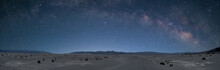 Milky Way Over Mesquite Dunes In Death Valley