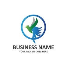 Simple Hummingbird Symbol Vector Logo