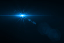Beautiful Lens Flare Effect On Black Background
