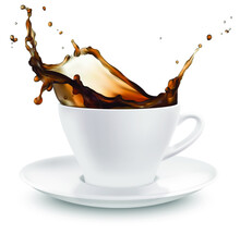 Realistic Vector Cup Of Coffee On White Background