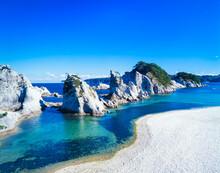 岩手県 宮古市 ブルーの海と浄土ヶ浜