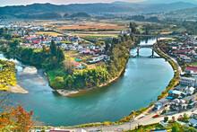 メガネ橋の風景(山形県大江町)