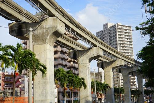 City landscape of Naha in Okinawa, japan. Panorama - 沖縄 那覇市の街並み Fototapet