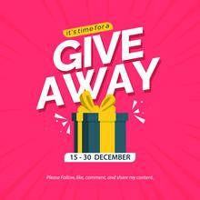 Giveaway Banner Design Template. Social Media Poster Design.