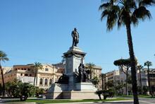 The Camillo Benso Conte Di Cavour Monument Statue In Piazza Cavour, Rome, Italy