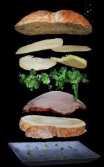 Zdjęcie kanapki , idealne jako obraz w kuchni.