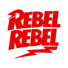 Rebel Thunderstorm Lettering T-shirt, Hoodie, Sweatshirt, Sticker Design In David Bowie Style. Download It Now