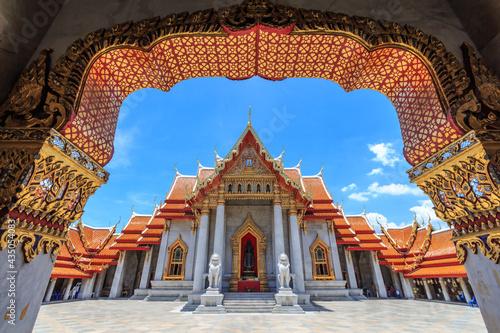 Marble Temple, Bangkok Thailand Fotobehang