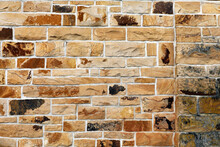 Bricked Stone Wall As A Background