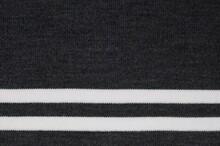 Dark Grey Striped Rib Knit Fabric Texture