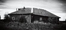 An Old Decaying House In The Village Of Nigizhma In The Republic Of Karelia