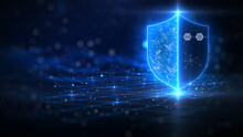 The Background Of Cyber Data Protection And Technology. Technology Concept Security Privacy Business.