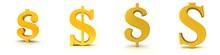 Dollar Sign $ Symbol Golden Us-dollar Icon 3d