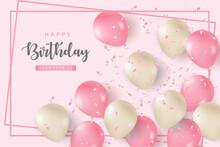 Happy Birthday Illustration Background.