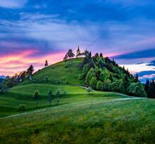 Sveti Jakob Hill With A Church On Top, Central Slovenia Region