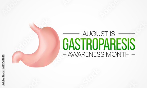 Fényképezés Gastroparesis Awareness Month is observed each year in August