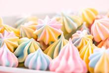 Unicorn Meringue Cookies