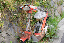 Abandoned And Decaying Motor Scooter