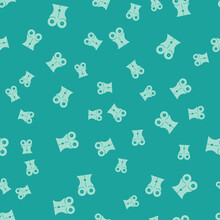 Green Women Waist Icon Isolated Seamless Pattern On Green Background. Vector
