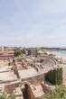 Ancient roman amphitheater in Tarragona, Spain