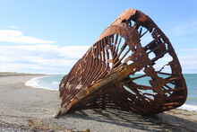 Wreckages On San Gregorio Beach, Chile Historic Site