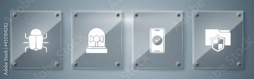 Fotografia Set Document folder protection, Smartphone, Flasher siren and System bug