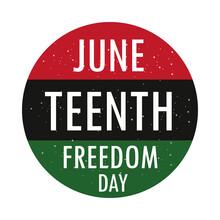 Juneteenth Freedom Button