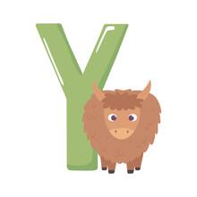 Yak Animal Alphabet
