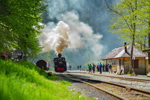 Old Steam Train From Romania