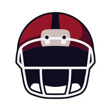 American Football Helmet Front