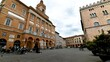 time lapse a square of republic in foligno