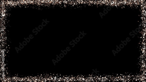 Cuadros en Lienzo Rose gold glitter frame illustration with black background, decoration with resp