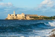 Título: Faro Castillo Del Morro In Havana, Cuba Is A Lighthouse Built In 1845 Guarding The Harbor Of La Habana.