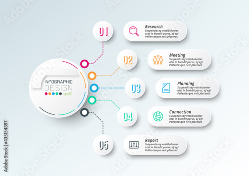 Business or marketing diagram infographic template. Fototapet