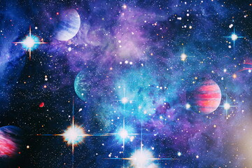 High quality space background. explosion supernova. Bright Star Nebula. Distant galaxy. Abstract image. Elements of this image furnished by NASA