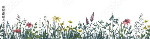 Canvastavla Flower border