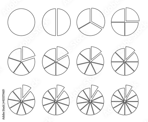 Foto Circle outline chart