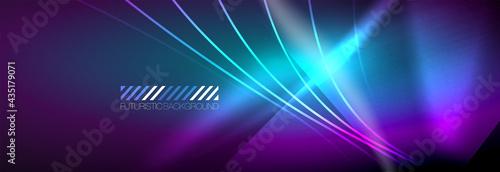 Carta da parati Neon dynamic beams vector abstract wallpaper background