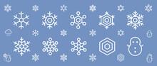雪の結晶アイコンセット