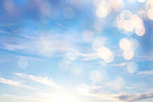 Clouds Bokeh Abstract Bright Summer Wallpaper Nature Sky