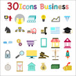 30 icons set. Colorful icons for business. vector ,illustration.