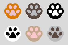 Cat Paws Lines Background. Banner Template With Cat Paws Or Kitten Feet Up. Cat Paw, Kitten Puppy Wallpaper. Cat Flat Design, Prints, Cartoon, Cute Cat Foot Wallpaper. Vector Illustration
