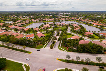 Aerial Photo Of Single Family Homes In Cooper City Neighborhoods