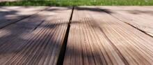 Wooden Floor And Grass