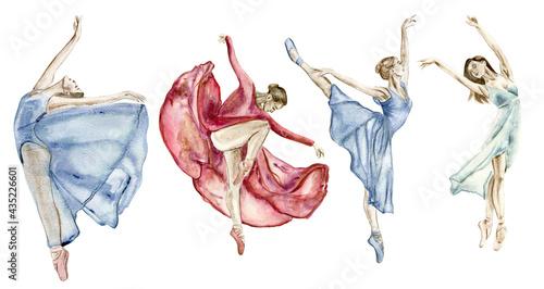 Foto A set of dancing women