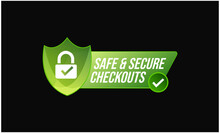 Safe And Secure Check Out Vector Icon. Safe Shopping Abstract. Security