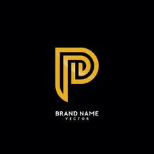 P Letter Gold Monogram Logo Design
