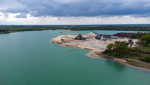 Baggersee Industrie Drohne