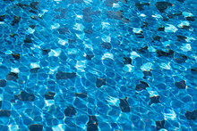 Abstract Picture Of Tile Of Blue Swimming Pool