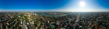 Rostov-on-Don, Russia. Summer Panorama Of The City From The Air, Aerial View. Panorama 360